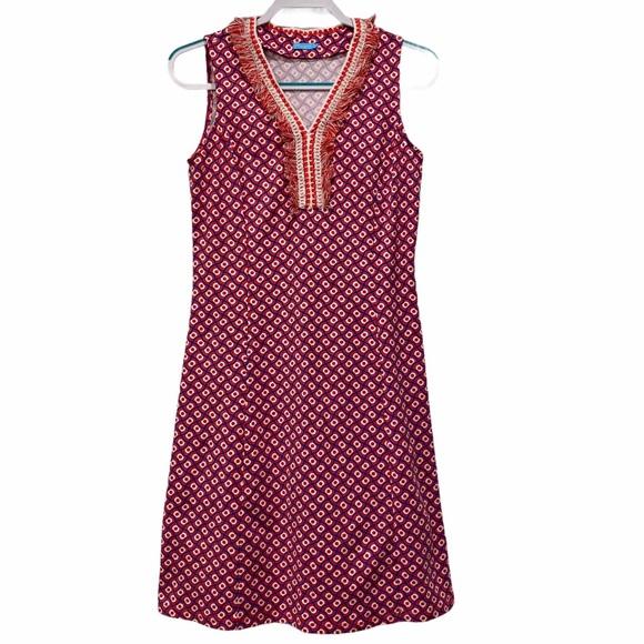 J. MCLAUGHLIN Pink Patterned Sleeveless Dress Smal